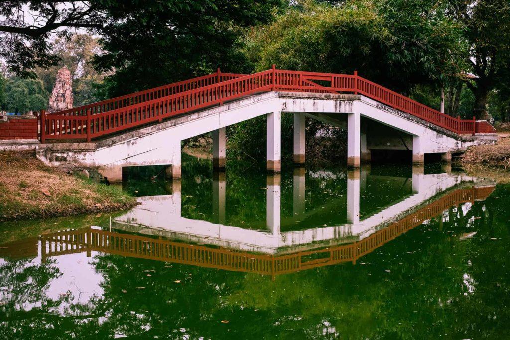 Bruecke-in-Rama-Park-Ayutthaya