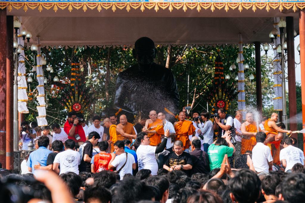 Das Ende des Festivals wird durch die Segnung mit gesegnetem Wasser markiert