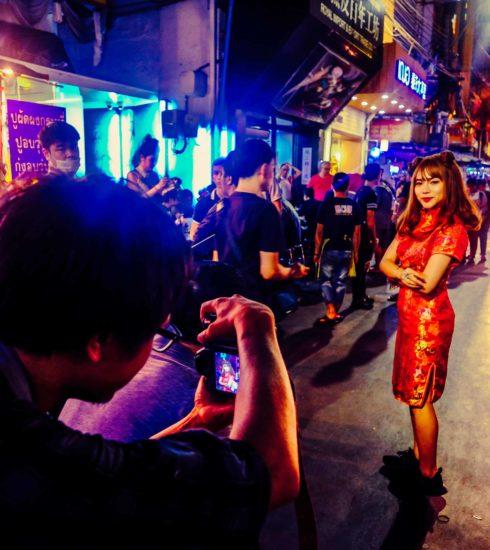 Photoshooting in Bangkoks Chinatown