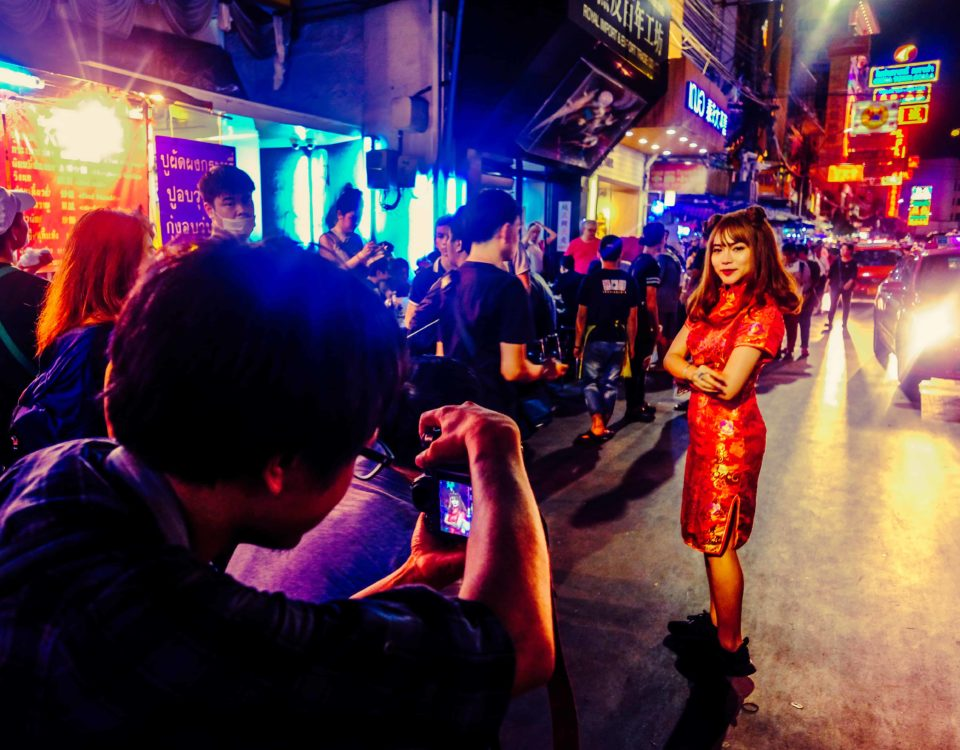 Photoshooting in Bangkoks Chinatown
