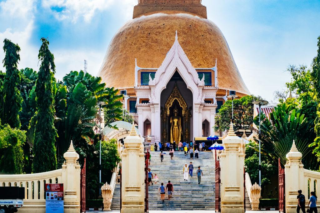 Phra Pathom Chedi in Nakhon Pathom Thailand Rundreise