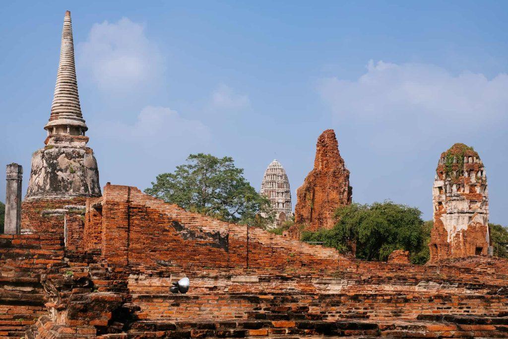Der Tempel Wat Mahathat in Ayutthaya in Thailand