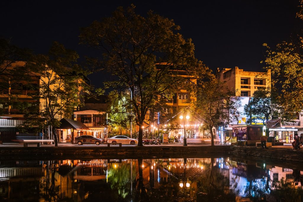 Chiang Mai Thailand bei Nacht