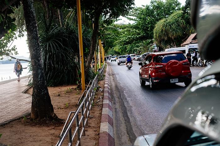 thailand rundreise krabi town songthaew sammeltaxi